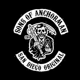 tee shirt anchorman noir