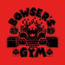 bowser nintendo gym t-shirt