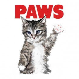 tee shirt paws chaton