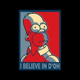 tee shirt homer simpson believe in d oh