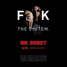 t-shirt Mr. robot fuck the system