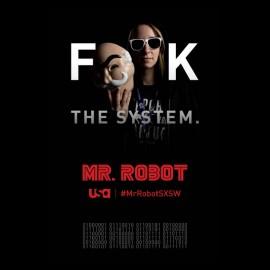tee shirt mr robot fuck the system