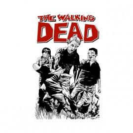 tee shirt walking dead cartoon
