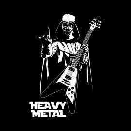 tee shirt heavy metal dark vador