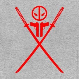 tee shirt deadpool logo sabre