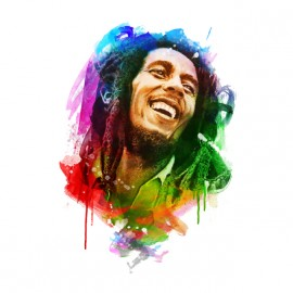 bob marley watercolor t-shirt