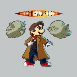 tee shirt docteur who mario