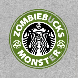 tee shirt zombie monster starbucks