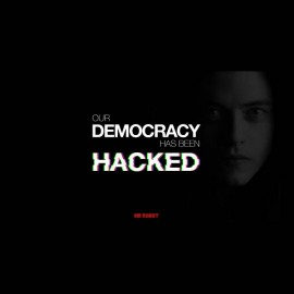 t-shirt Mr. robot democracy been hacked