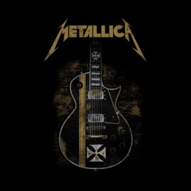 tee shirt metallica guitare
