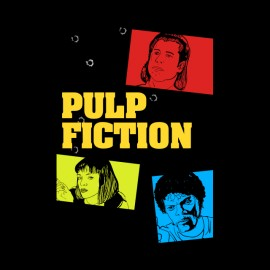 pulp fiction, tarantino t-shirt sticker