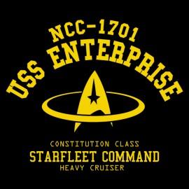 USS Enterpris NCC 1701- Tee shirt noir