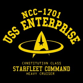 USS NCC 1701 Enterpris - T-shirt black