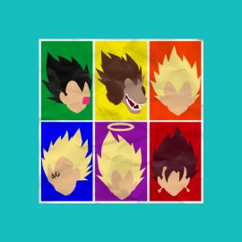 tee shirt dragon ball majin personnages