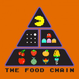 tee shirt chaine alimentaire geek pacman