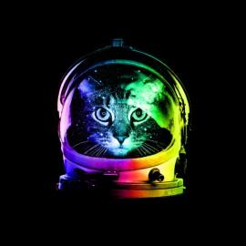 tee shirt chat astronaute