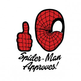 t-shirt spiderman approves