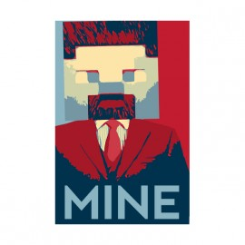 tee shirt minecraft mine obama