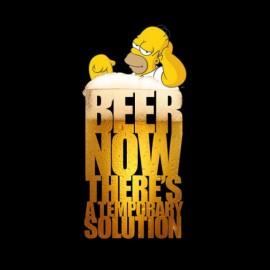 tee shirt homer simpson et la biere