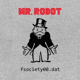 mr robot f society dat t-shirt
