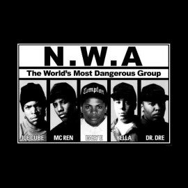 tee shirt nwa gangerous gang hip hop
