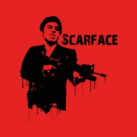 scarface bloody t-shirt