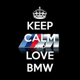 tee shirt keep calm love bmw