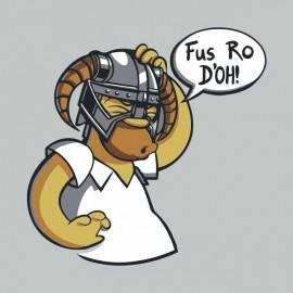 homer simpson in skyrim t-shirt