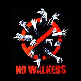 No. walkers walking dead t-shirt