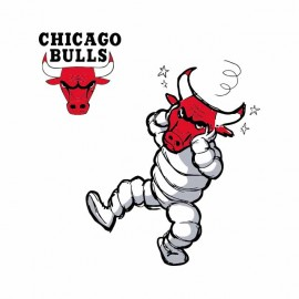 tee shirt chicago bulls vs cow laughing