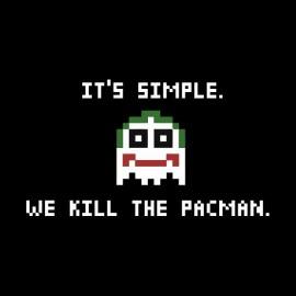 tee shirt joker we kill pacman
