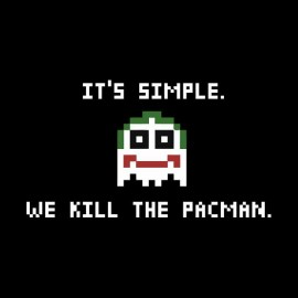 tee shirt joker we kill pacman