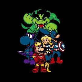 tee shirt mario bros avengers