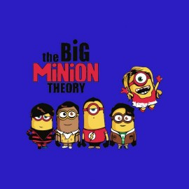 t-shirt big bang theory and minions