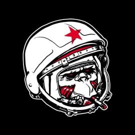 Monkey Communist astronaut t-shirt