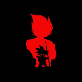 tee shirt songoku shadow dragon ball