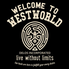 Tee Shirt Westworld - Delos Inc - University