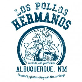 Pollos Hermanos Camiseta blanca universidad