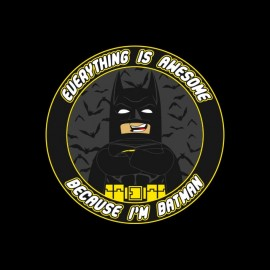 awesome lego batman t-shirt