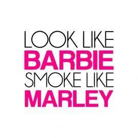 tee shirt barbie smoke like bob marley