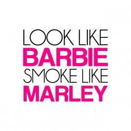 tee shirt barbie smoke like bob marley