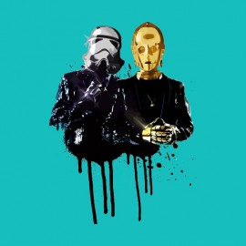 tee shirt star wars daft punk c3po
