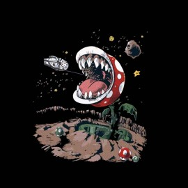 tee shirt Green plant of l space mario bros