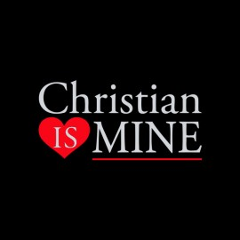 tee shirt christian is mine nuances de gray