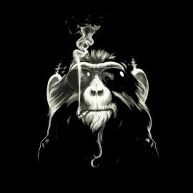 tee shirt singe qui fume
