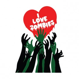 t-shirt i love zombies