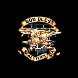 t-shirt god bless navy seal team six