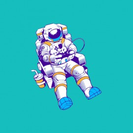 Astronaut gamer geek t-shirt