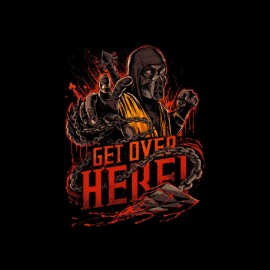tee shirt sub-zero fatal combat over here