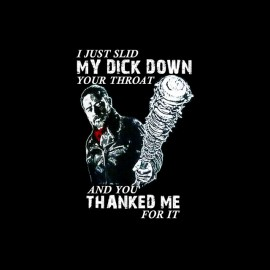 tee shirt walking dead negan dick down